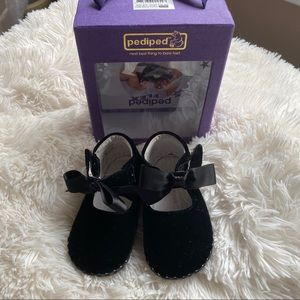 Pediped Velvet and Satin Soft Soled Shoes